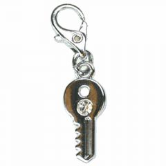 Key Rhinestone pendant with carabiner