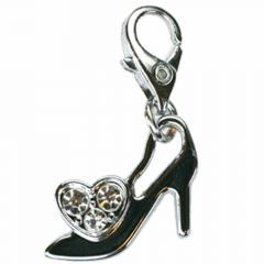 Stiletto Rhinestone pendant with carabiner