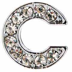 C rhinestone letter with 14 mm