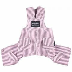 DoggyDolly dog dungarees red-striped - dog clothing, buy cheap at Onlinzoo