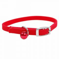Red cat collar - Red stretching collar for cats