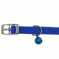 Cat Collar for rhinestone letters blue