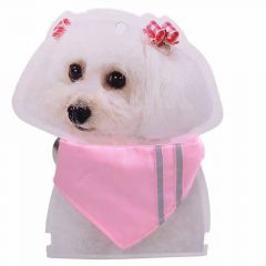 Collar with pink towel of 15 - 23 cm adjustable