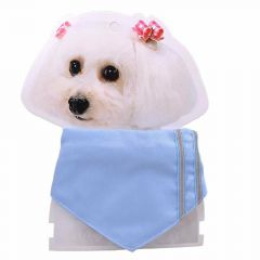light blue dog neckerchief of 23 cm - 28 cm adjustable length