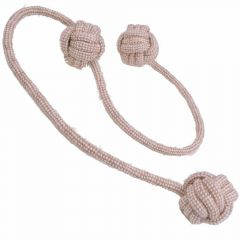 GogiPet ® Naturetoy dog toy - long Dental rope with 3 balls