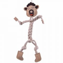 Dog toy GogiPet ® brown cow with 47 cm