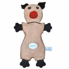 Dog toy made of leather GogiPet ® Naturetoy dog toy light brown Opossum