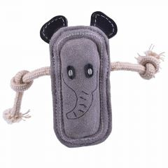 GogiPet ® Naturetoy - Dog toy made of leather and natural resources