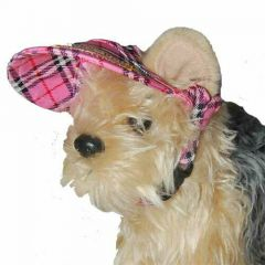 Scots dog hat - pink peaked cap for dogs