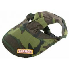 Green camouflage dog hat - camouflage peaked cap for dogs