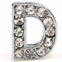 D rhinestone letter with 14 mm