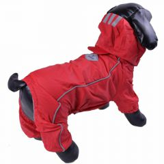 Dog clothes for rainy weather - Red raincoat for dogs
