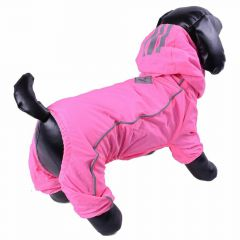 Good raincoat for dogs with 4 legs pink