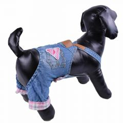 Blue jeans trousers for dogs