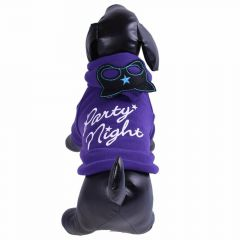 Dog jacket Party Night purple