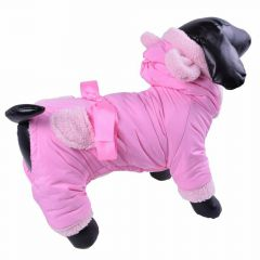Warm dog - pink anorak with 4 legs