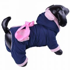 Warm dog clothes for the winter - mouse jumpsuit