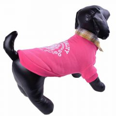 Pink warm dog sweater