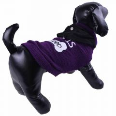 Dog sweater - purple knit sweater - dog clothing