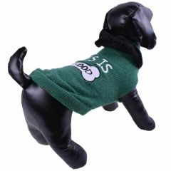 Dog sweater - green knit sweater - dog clothing