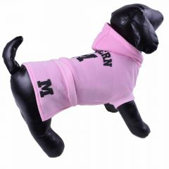 Warm fleece sweater for dogs pink