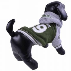 Warm winter coat for dogs - sports jacket green
