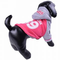 Warm winter coat for dogs - sports jacket pink
