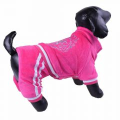 Weicher rosa Soft pink dog jumpsuit - Winter jogger for dogsHundeoverall - Winterjogger für Hunde