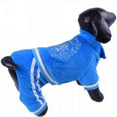 Soft blue dog jumpsuit - Winter jogger for dogs