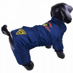 Warm dog clothes - Air Force blue