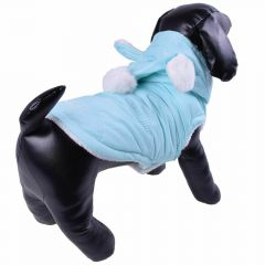 Lovely blue dog anorak - warm dog clothes