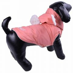 Lovely pink dog anorak - warm dog clothes
