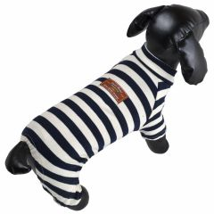 Jogger for dogs blue striped