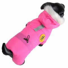 Pilot jacket for small dogs pink