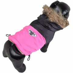 Pink dog parka the warm dog anorak