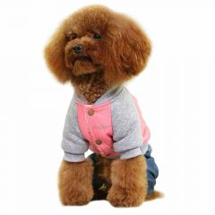 Hot dogs garment of GogiPet - dog anorak with jeans Pink