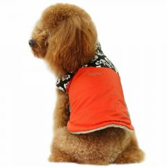 dog clothes for winter dog coat Nancy orange