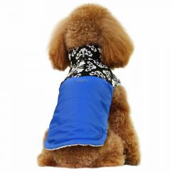 Dog clothes for winter dog coat Nancy blue