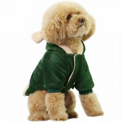 Green Bear dog coat for dogs - dog attiere warm clothing from GogiPet Cotton