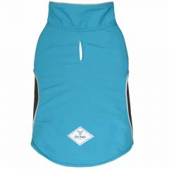 Lined dog coat blue for large dogs