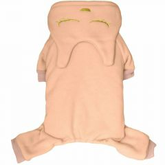 Lovely pink cotton fleece overall - cat