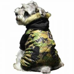 Warm Camoulfage dog parka - Army outfit