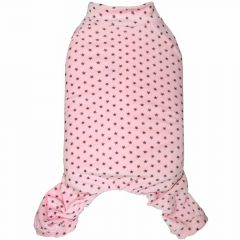 Warm dog pajamas pink