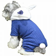 Bunny warm dog clothes for the winter blue