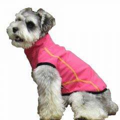 Pink dog raincoat by GogiPet