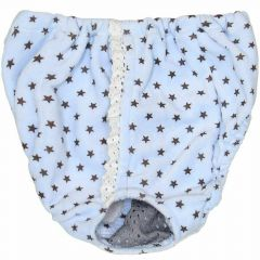 Sanitary panties for dogs light blue with stars