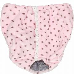 Sanitary panties for dogs Pink with stars
