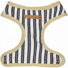 Soft dog harness blue striped by GogiPet