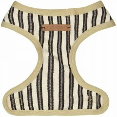 Soft dog harness green striped by GogiPet