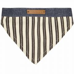 Dog collar or back cloth green striped